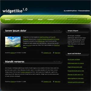 widget like free website templates in css html js format With html templates free download