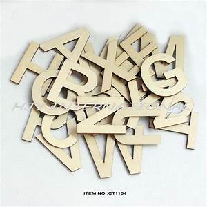 26letters78pcs lot 50mm wooden alphabet letters set With unpainted wooden letters