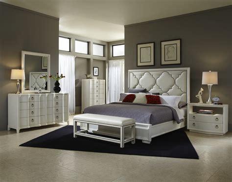 glam bedroom set cosmopolitan parchment bedroom set 208000