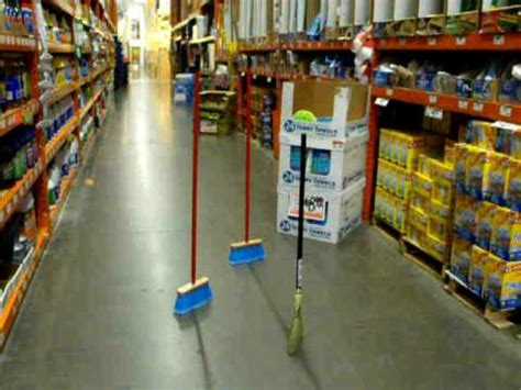 home depot standing ls 3 standing brooms at home depot youtube