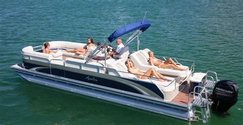 Sam S Pedal Boat by Research 2013 Avalon Pontoons C Rear Lounge 24 On