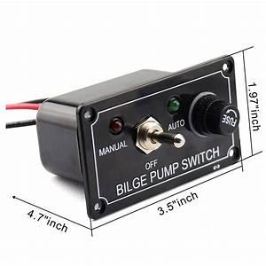 Au Bilge Pump Switch W   Led Light Indicator