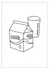 Milk Glass Coloring Carton Kitchen Pages Printable Template sketch template