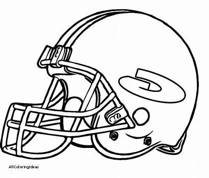 Coloring Pages Nfl Helmet Bay Drawing Football