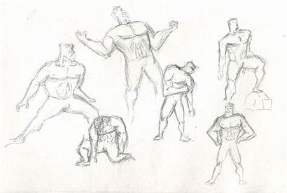 Poses Action Drawing Roll Tired