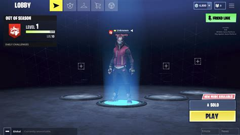 lobby screen   logged  mobile   days