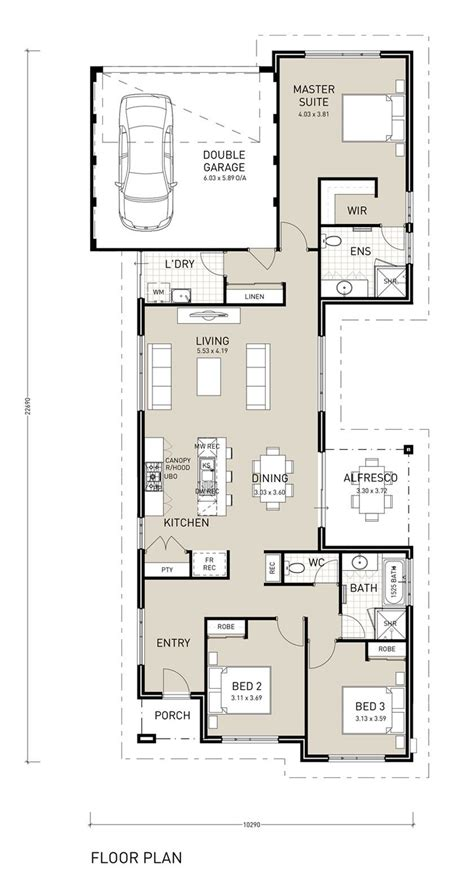 House Plans For A Narrow Lot by Marvellous Design Single Storey House Plans For Narrow