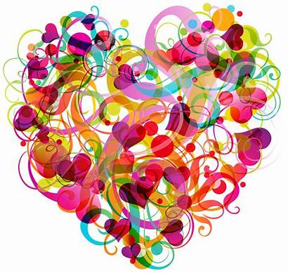 Abstract Heart Colorful Clipart Hearts Clip Transparent