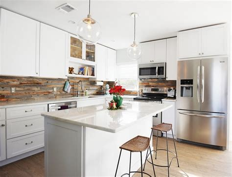 reclaimed wood kitchen backsplash k 252 chenr 252 ckwand aus holz statt fliesenspiegel 20 ideen 4532