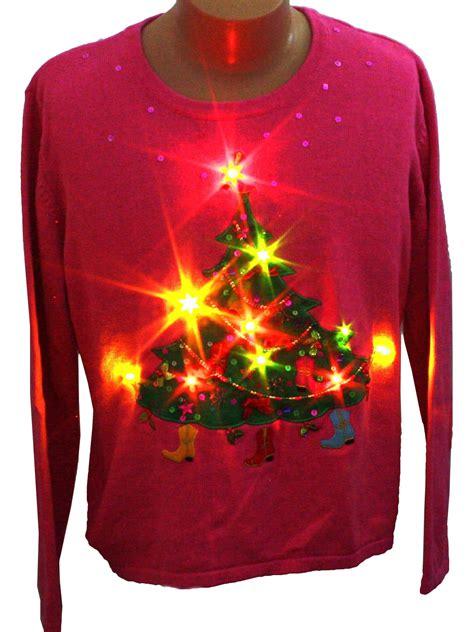 ugly light up christmas sweaters womens light up ugly christmas sweater bobbie bell