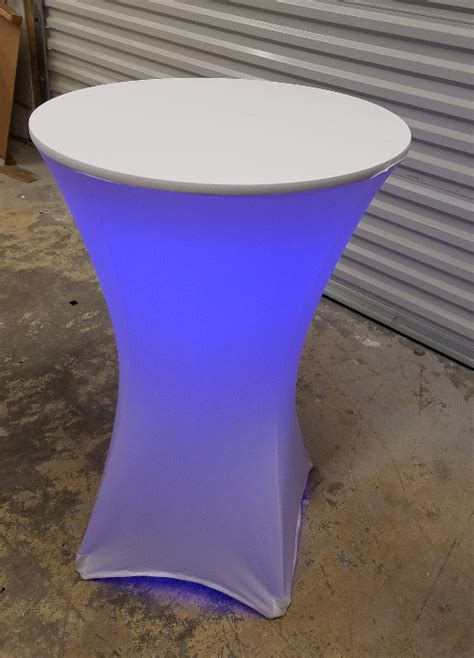 lighted cocktail table  affixed rgb led lights