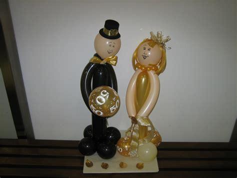 ballonbrautpaar zur goldenen hochzeit candy  balloon