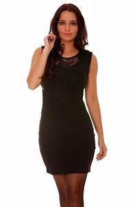 robe de soiree noir a dentelle sur le devant robe With robe élégante pas cher