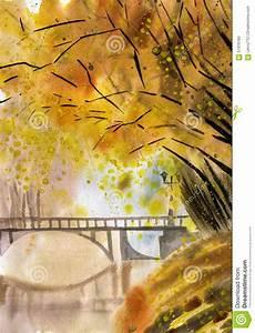 peinture d39aquarelle de paysage d39automne illustration With toute les couleurs de peinture 0 peinture amour dautomne