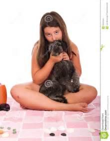 Little Girls Kissing Dogs