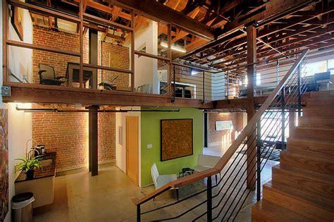 warehouse office design adaptive reuse green space as a tool for neighborhood Modern