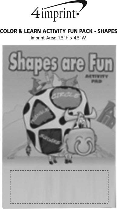 Color & Learn Activity Fun Pack  Shapes (item No 124504sh) From Only 79¢ Ready To Be