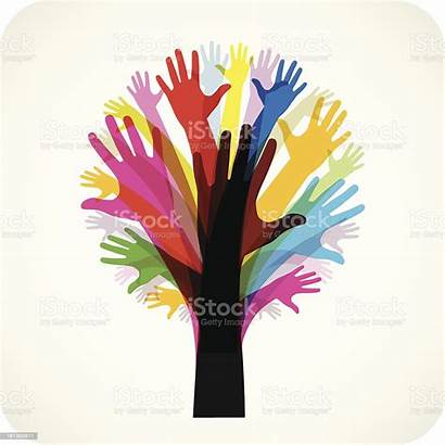 Tree Hands Vector Hope Clip Hand Istock