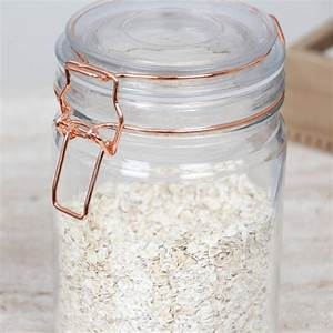 Glass, Storage, Jar, With, Copper, Clip, Lid, Selection, By, Dibor