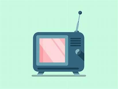 Animated Tv Flat Motion Television Gifs Animation