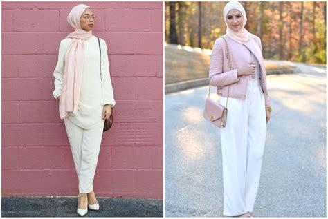 berpakaian fashion hijab   padu padan fashion hijab  atasan putih