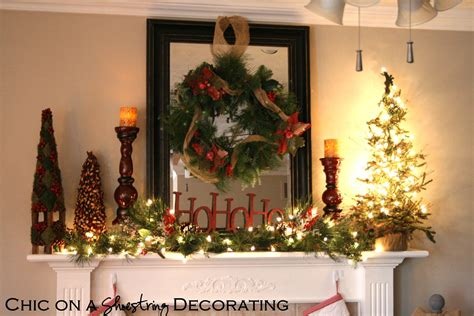 chic   shoestring decorating christmas home  part