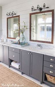 25 best ideas about gray vanity on pinterest grey With kitchen colors with white cabinets with mirror vinyl sticker