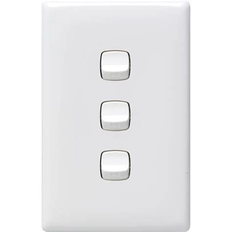 3 switch light switch hpm white linea 3 light switch bunnings warehouse