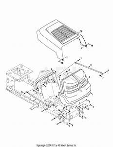 Mtd 13ac76lf055  2012  Parts Diagram For Hood  U0026 Grille