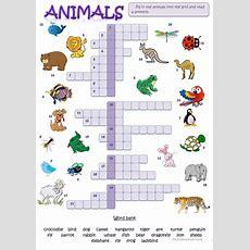 Animal Picture Crossword Worksheet  Free Esl Printable Worksheets Made By Teachers