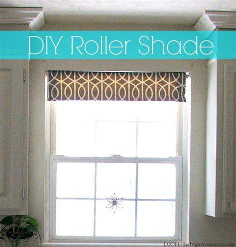 diy fabric roller shade home