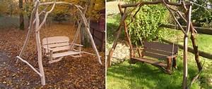 Balancelle De Jardin En Bois : balancelle jardin 2 places 28445 29010 ~ Teatrodelosmanantiales.com Idées de Décoration