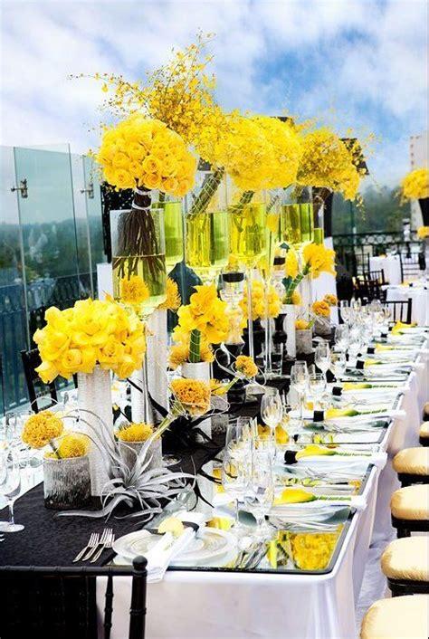 wedding themes black yellow wedding colors n themes
