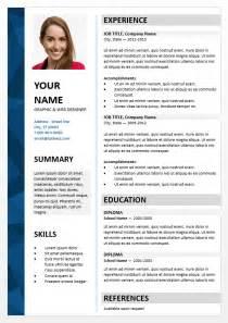 resume template free download docx exemple cv 1 colonne cv anonyme
