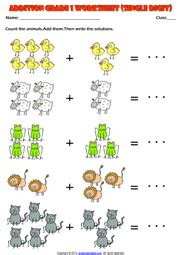 subtraction math problems grade 1 addition printable worksheets and exercises
