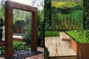 Fontaine Mur D Eau Exterieur : acier corten meilleures images d 39 inspiration pour votre ~ Premium-room.com Idées de Décoration