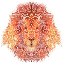 Tribal Lion Drawings