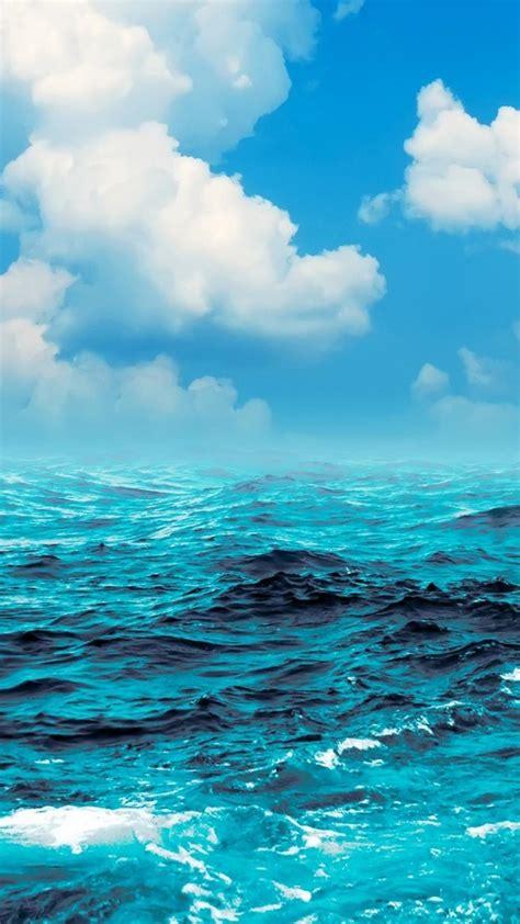 ocean clouds waves boats yaught skies sea wallpaper