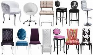 Superbe chaise salle a manger design 4 chaises glamour for Meuble salle À manger avec chaise salle a manger design pas cher