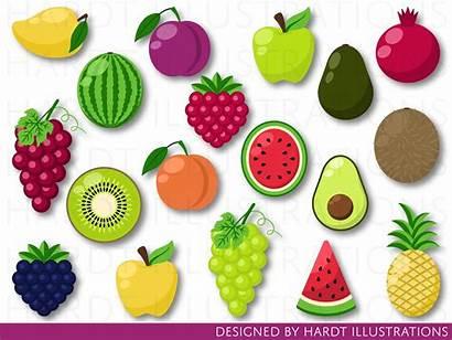 Fruit Fruits Clip Clipart Tropical Local Frutti