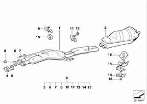 Bmw 540i Rubber Ring  Hs 65  System  Exhaust  Rear