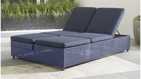 double chaise lounge sofa dune navy outdoor double chaise lounge crate and barrel