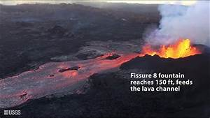 Video from helicopter overflight tracing the lava flow to ...
