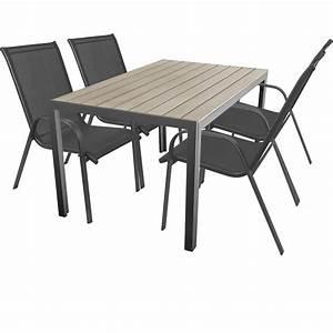 Gartentisch Non Wood : 5 teilige terrassengarnitur gartengarnitur aluminium polywood non wood gartentisch 150x90cm ~ Eleganceandgraceweddings.com Haus und Dekorationen