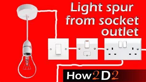 Light Spur From Socket For Lighting Off Ring Main