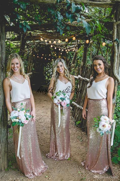 pieces long country bohemian bridesmaid dresses