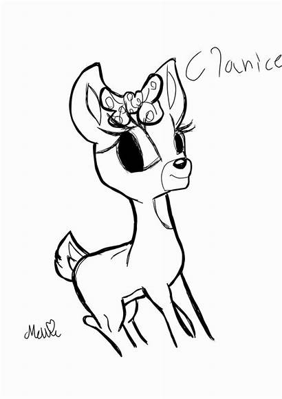 Clarice Coloring Rudolph Pages Reindeer Printable Getcolorings