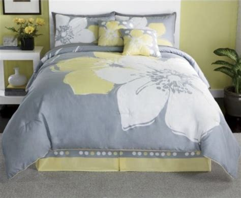 yellow and grey size bedding property 15 pieces marisol yellow grey white comforter bed in a bag