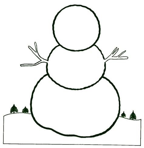 Snowman Template Printable Snowman Template With Nose Hat