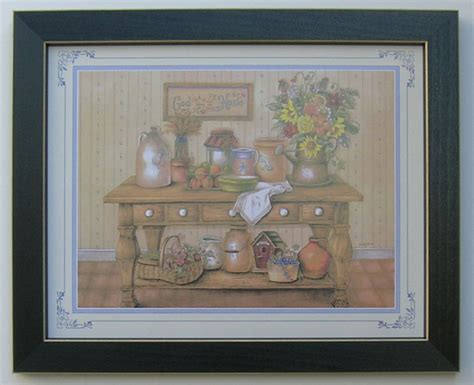 home interior framed country kitchen picture framed country picture print